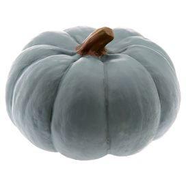 October Pumpkin Decor in Teal