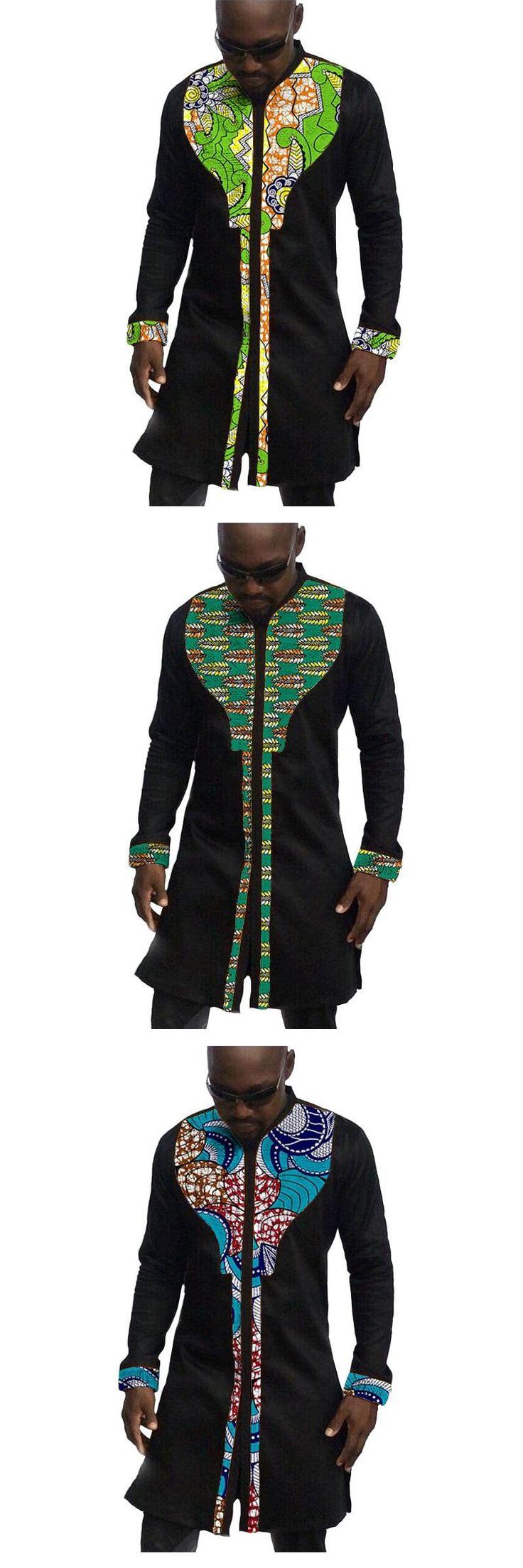 African mens shirts custom men african clothes fashion dashiki shirt mens long sleeve tops of africa clothing