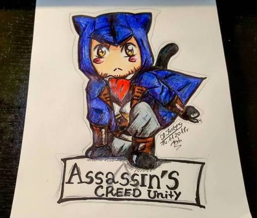 my art Chibi assassin's creed