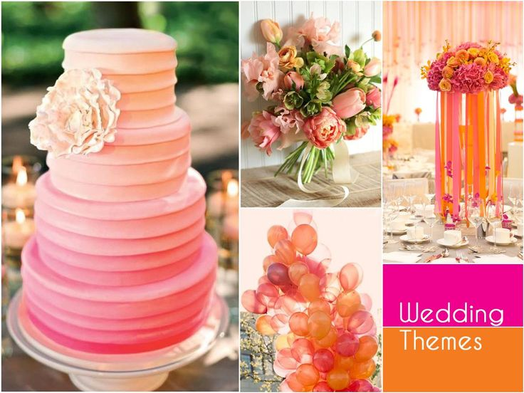 Channel the colours of the season in your wedding decor. A vibrant palette of orange and pink works well as an effervescent yet elegant choice of theme for your wedding. #WeddingThemes #SummerWeddingsWithBenzer