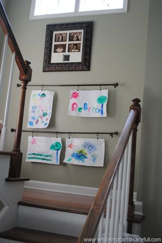 Kids Art Gallery Curtain Rod With Ring Clips Maybe At