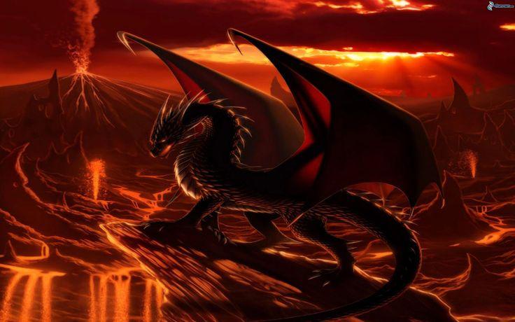 Schwarzer Drache der Unterwelt