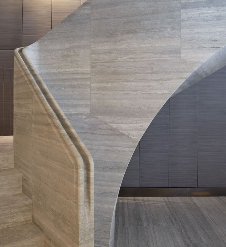 Travertine stair | Jamie Fobert Architects