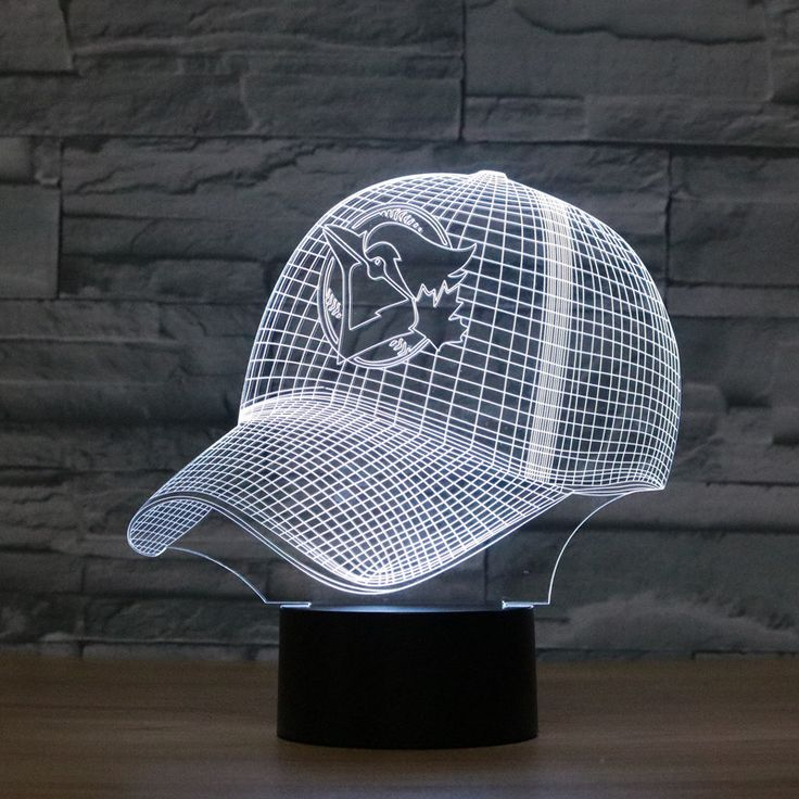 ==> [Free Shipping] Buy Best USB 3D Night Light Toronto Blue Jays Baseball Team Cap Touch Switch Desk Table Lampara 7 Colors Baby Bedroom Sleeping Decorative Online with LOWEST Price | 32806279992
