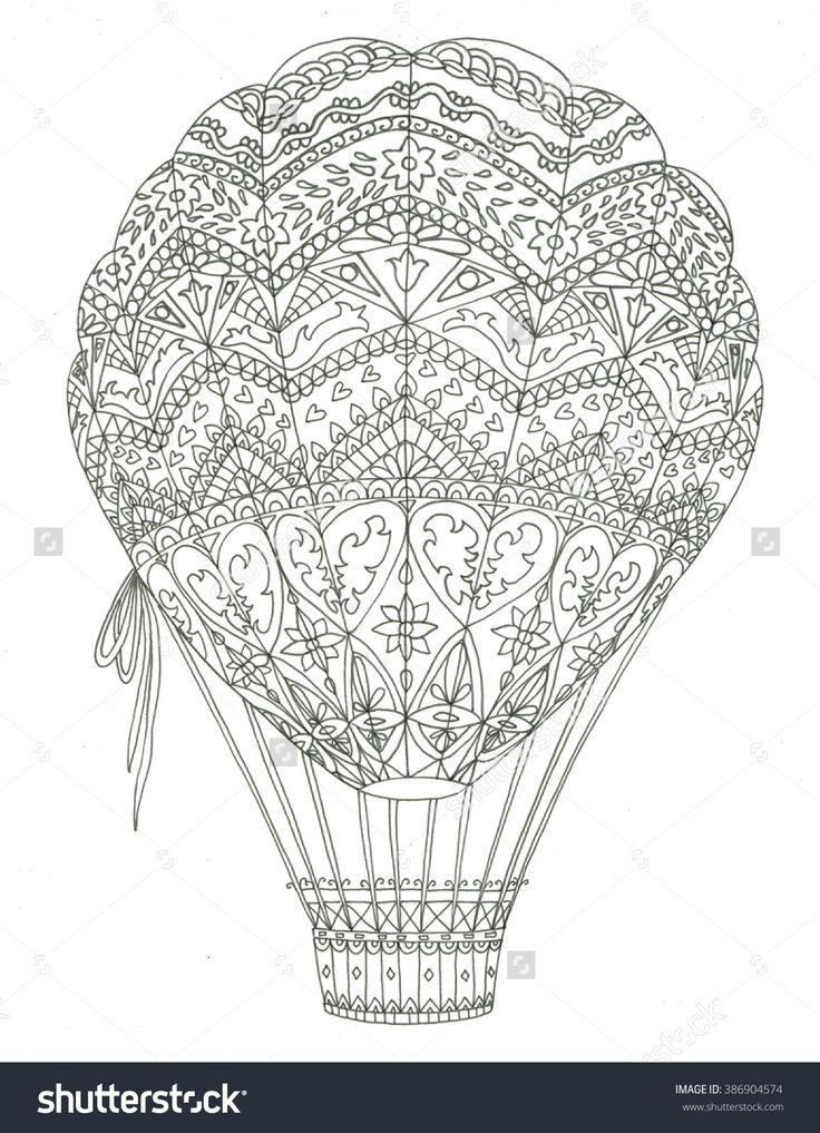 air balloon coloring page - Coloring Page Hot Air Balloon