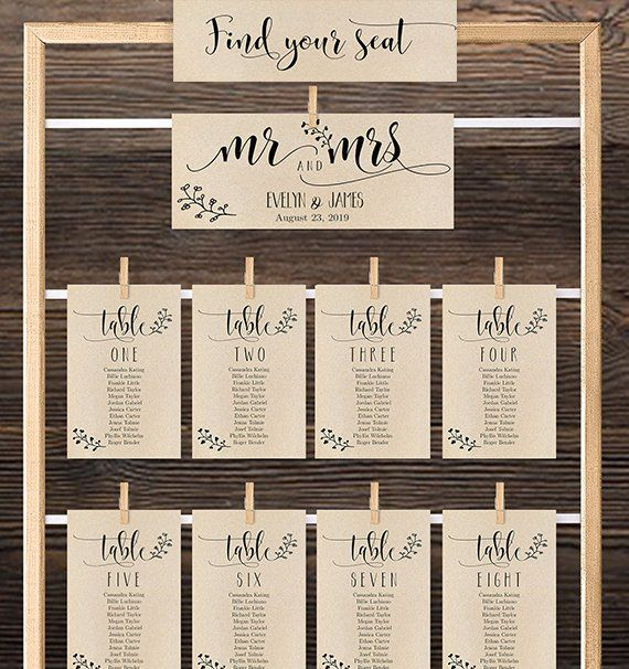 Calligraphy Seating Chart Template Table Seating Chart Etsy Wedding Seating Cards Seating Plan Wedding Wedding Cards