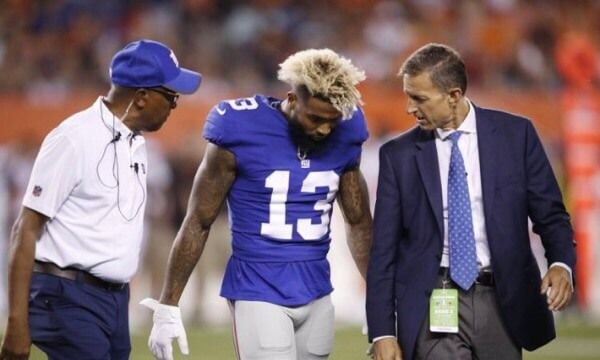 Video: Odell Beckham Jr. suffers ankle injury-Dr. Parekh = New York Giants WR Odell Beckham Jr. suffered an ankle injury in a pre-season game against the Browns. What's.....