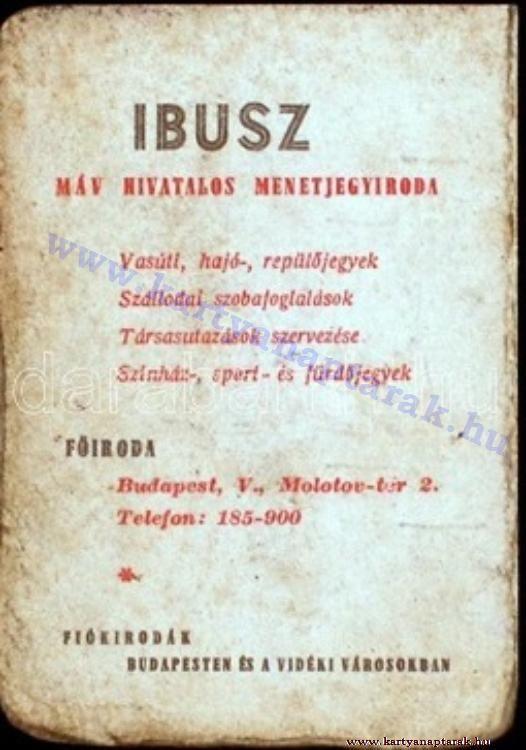 1950 - 1950_0009 - Régi magyar kártyanaptárak