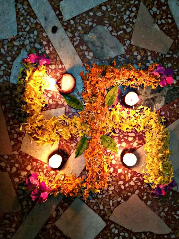 Floral Rangoli Sky lanterns, Halloween wreath, Floral