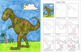Art Projects for Kids: How to Draw a T-Rex