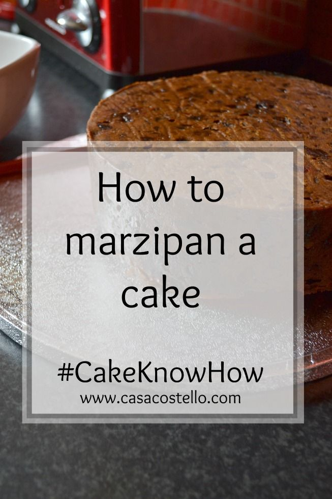 How to marzipan a cake #CakeKnowHow