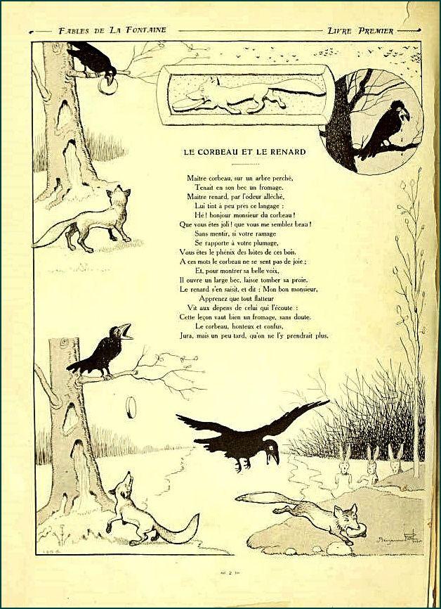 La Fontaine - Le corbeau et le renard
