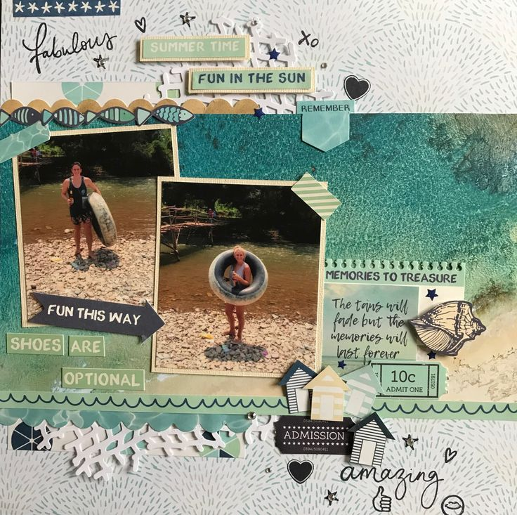 Hello+everyone,+Denise+here+with+another+layout+using+the+summery+Summer+Splash+Kaisercraft+Collection.+Perfect+papers+for+making+layouts+of+holiday+photos+.+I+started+by+using+Poolside+paper+as+my+base.+Next+I+cut+a+rectangle+from+the+umbrellas+side+of+Beach+Umbrellas+paper+and+adhered+this+to+the++…click+to+read+more