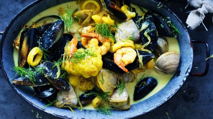 Quick and satisfying seafood soup
