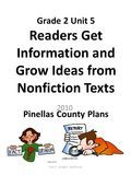 Grade 2 Unit 5 Readers Get Information and Grow Ideas from Nonfiction Texts Pinellas County Plans Unit 5 - Grade 2 - Nonfiction 2010.