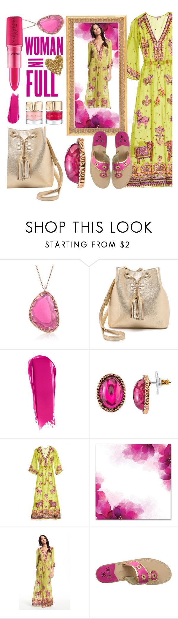 #Embroidery&Sequins  #HandEmbellished #Chiffon&Silk  #MaxiDress by prigaut on Polyvore featuring Calypso St. Barth, Jack Rogers, Tory Burch, 1928, Ross-Simons, NARS Cosmetics and KAROLINA