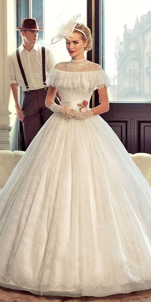 s Bridal Gowns In Charming Vintage Portraits ❤ See more: http://www.weddingforward.com/1960s-bridal-gowns/ #weddings