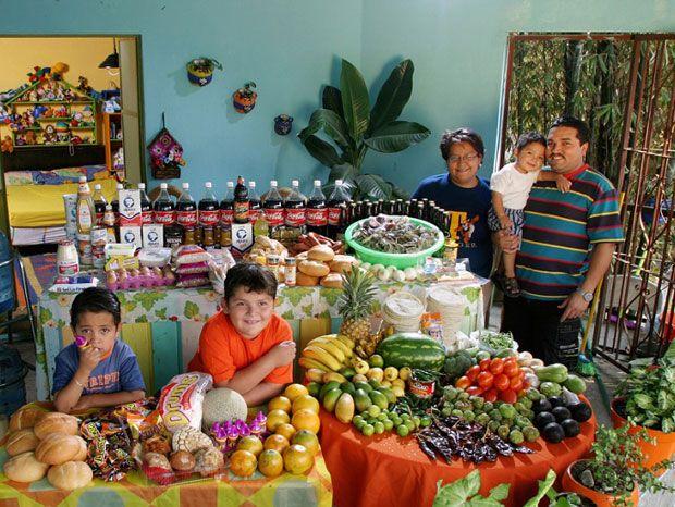 Des familles du monde entier vous invitent à découvrir leur nourriture quotidienne