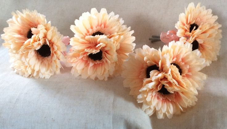 Peach gerbera hand-tied bouquets by Cathey's flowers
