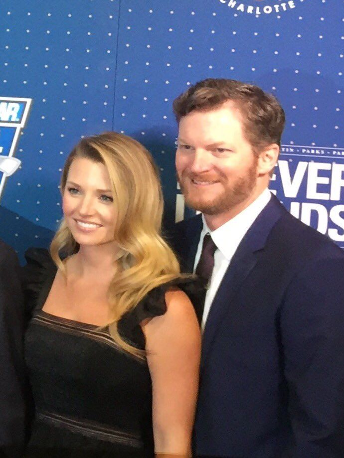 Dale Jr. & wife Amy at the NASCARHOF induction. Jan. 20, 2017