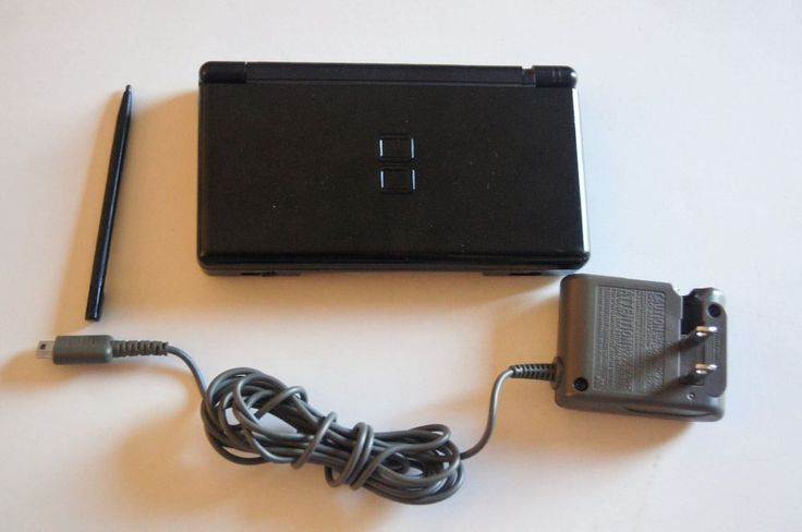 Nintendo DS Lite Black Handheld System with Charger Stylus Tested Working  #Nintendo
