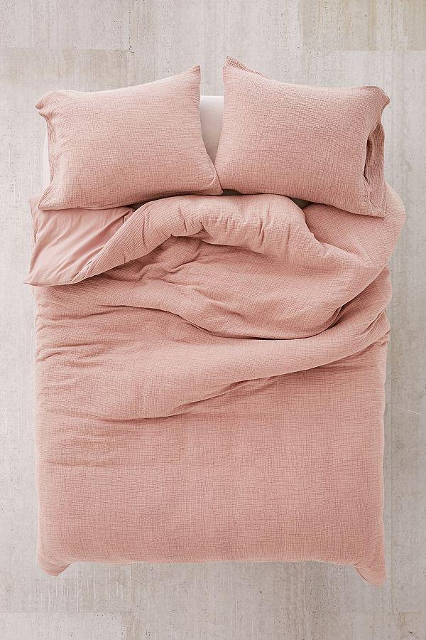Crinkle Gauze Duvet Cover /