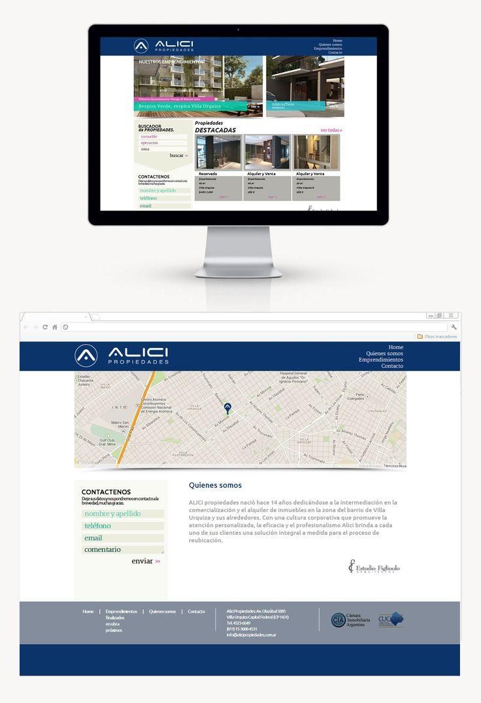Alici Propiedades se reunió con DOMO para plantear un rediseño total de su sitio, para actualizar no sólo los contenidos sino la estética general. También aplicamos un administrador de contenidos para que puedan agilizar la carga de contenidos en la información de sus propiedades.