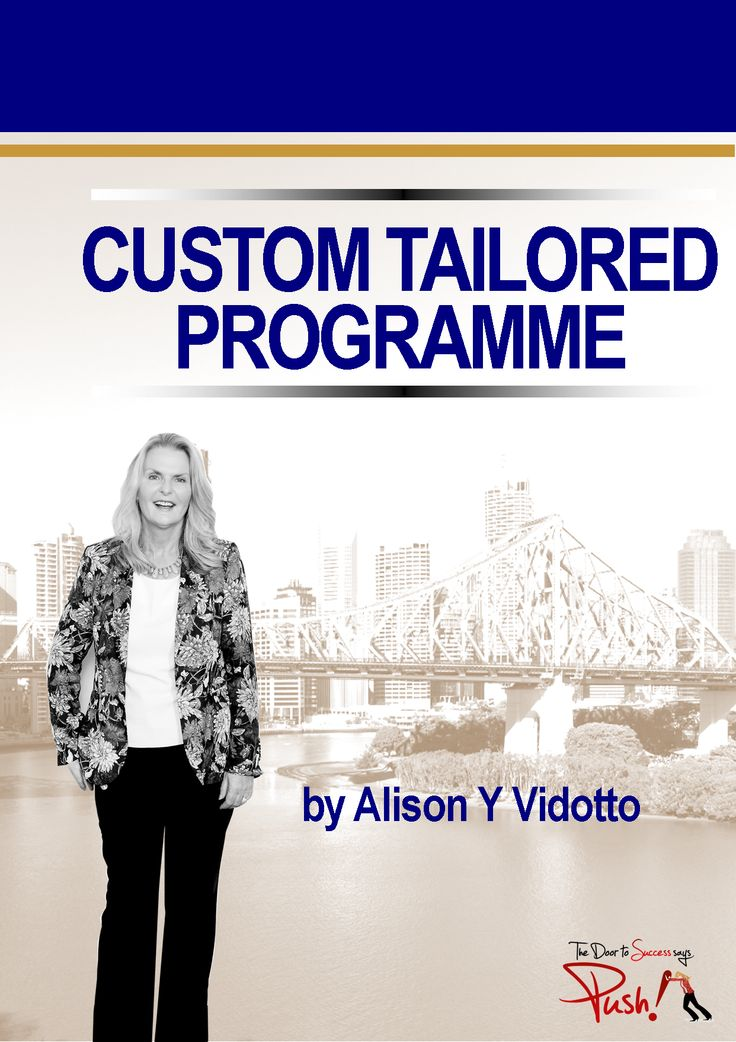 Our customised courses are highly interactive and lead to exponential growth within your teams skill set. Programmes range in duration from 90 minutes session to a week long intensive training course.   http://alisonvidotto.com/push-courses/custom-programme
