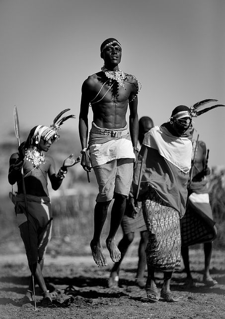 """A Samburu courting dance in which young men and younger girls form future couples."" Read more in Kenya Highlights www.bradtguides.com"