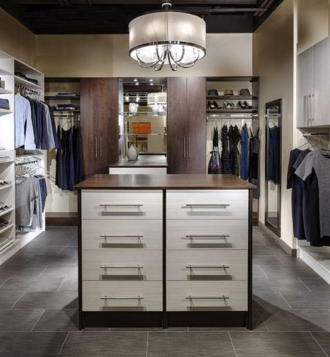 Perfect Two Toned Custom Closet And Drawers