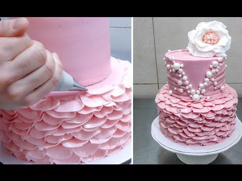 Buttercream Ruffle Cake Decoration - How To by CakesStepbyStep - YouTube