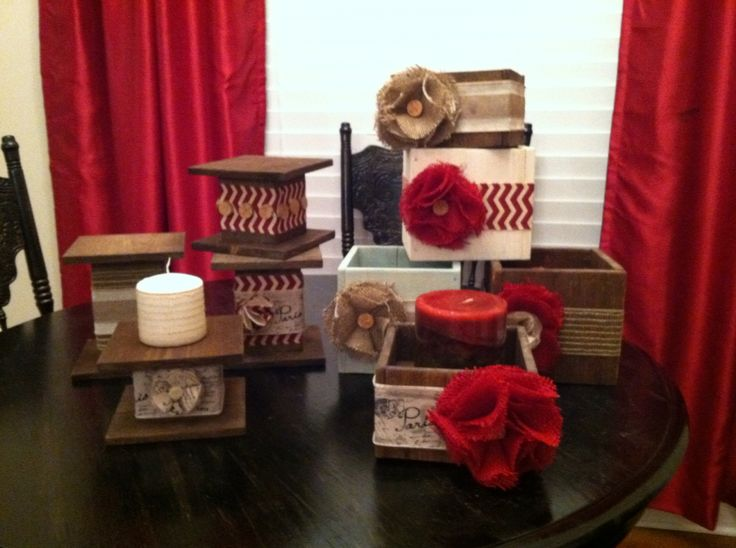 Boxed Candle Holders And Column Candle Holders.