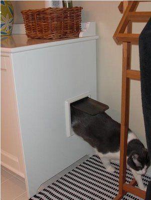 ikea hackers cat litter box in an ikea sink cabinet they