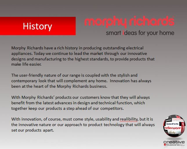 Morphy Richards History