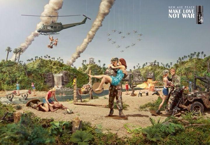 Axe Peace: make love not war + making-of
