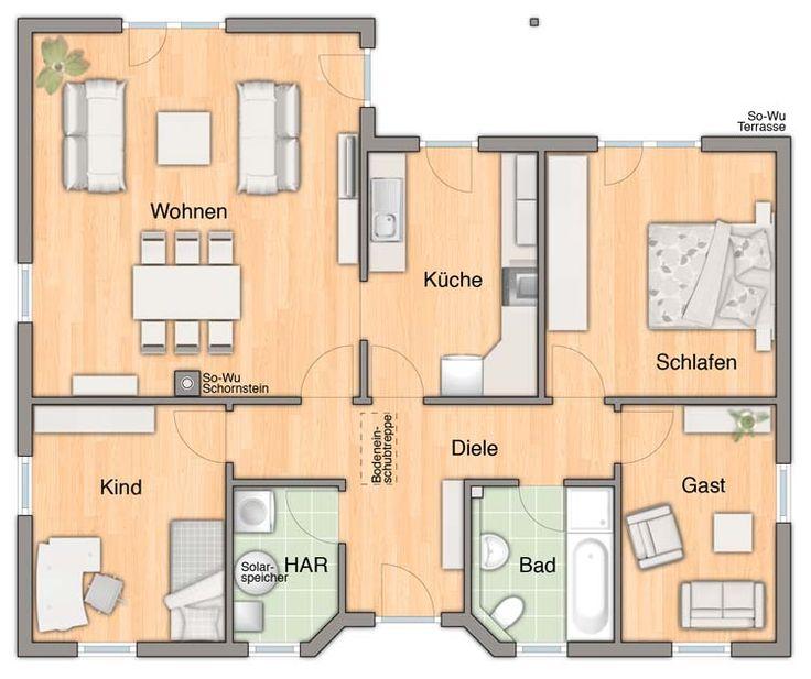 ber ideen zu winkelbungalow grundriss auf. Black Bedroom Furniture Sets. Home Design Ideas