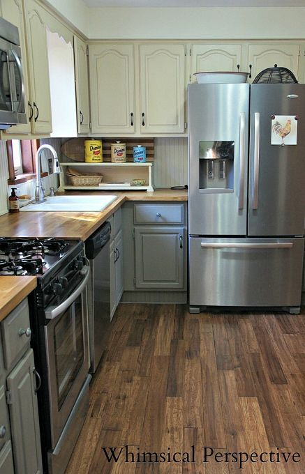 Our Kitchen Makeover Chalk Paint Kitchen Cabinets Gray