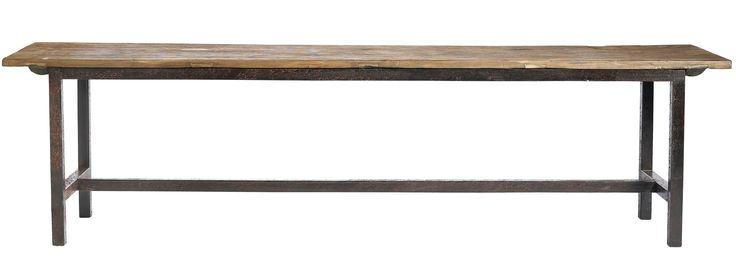 RAW Bench, puu, 46x100x35, metalliset jalat | Nordal.eu