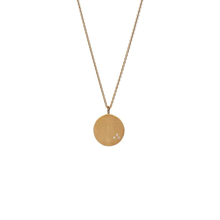 Love Coin Necklace Short Gold