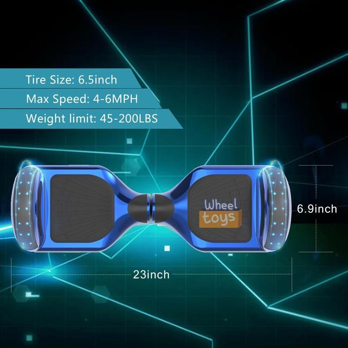 Hoverheart H-Star 6 5'' Self Balancing Hoverboard | Chrome