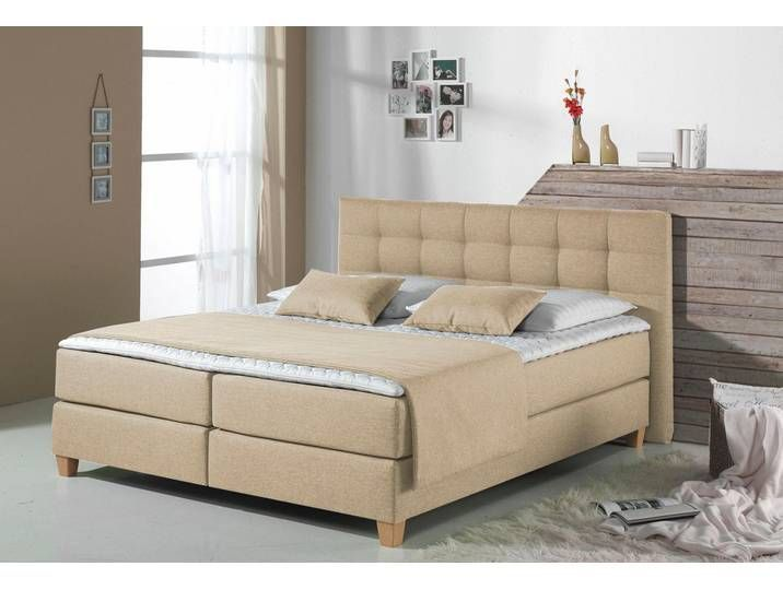 Home Affaire Boxspring Bett Beige 160x200 Cm Struktur Tommy Ha Boxspringbett Kopfteil Mit Dekorativ In 2020 Box Spring Bed Home Decor Diy Dining Room Table