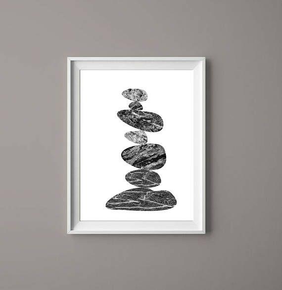 Stone Stack Marble    Printable Art Prints Zen Downloadable  #printables  #prints  #cairn  #zen  #meditation  #Etsy #decor  #wallart #contemplativeart