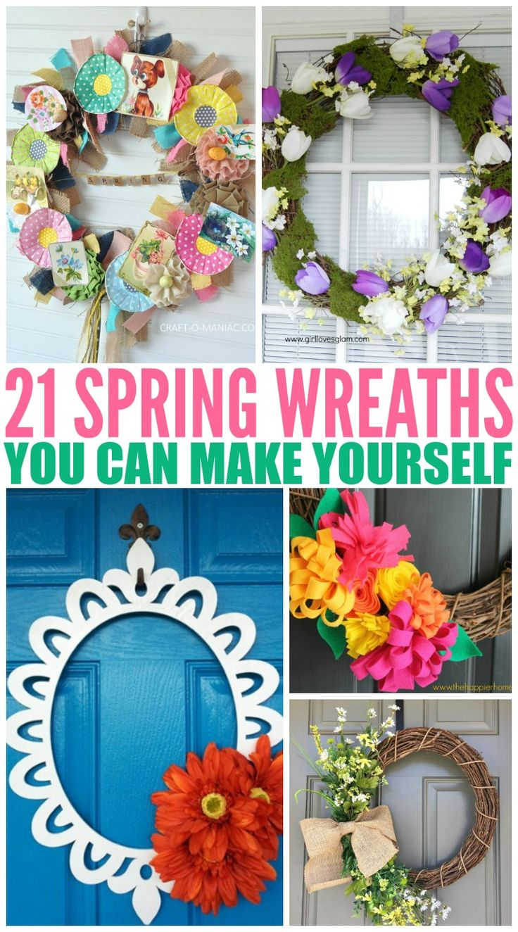 I have a round-up of 21 great spring wreaths that can be made at home whether it's your first creation or not!