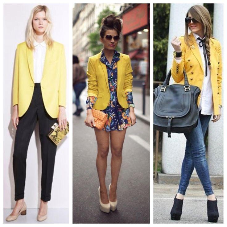 С чем носить желтый пиджак - Модная - мода, стиль, тенденции 2017.