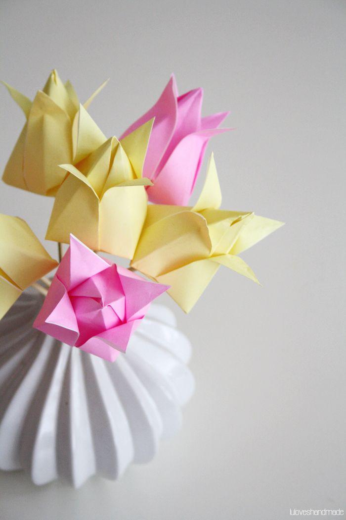Spring / Tutorial / Origami paper tulips