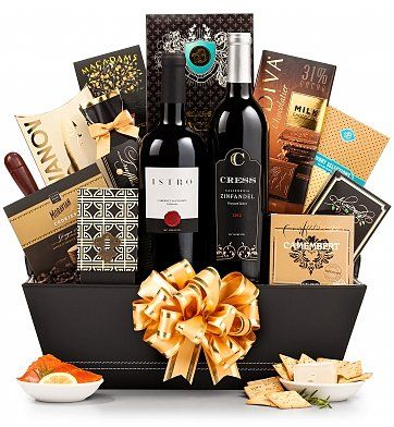 Give them the best! The Finer Things Gift Basket, a gift of good taste and abundance. Perfect for the Holidays, or any time!