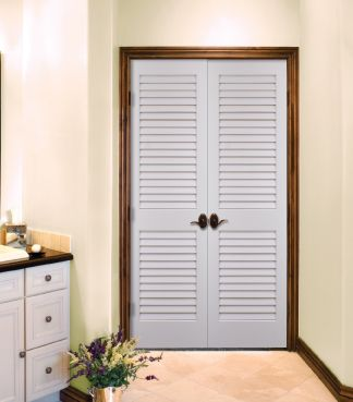 Plantation louvered door by homestory doors doorreplacement homestory interior doors - Plantation louvered closet doors ...