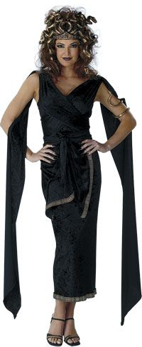 Sirens Greek Mythology costumes | Adult Medusa Costume - Greek Mythology Costumes - Party Supplies