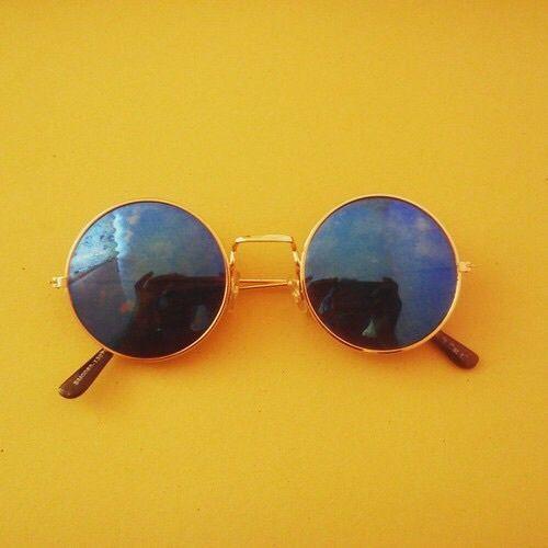 yellow, aesthetic, and sunglasses εικόνα