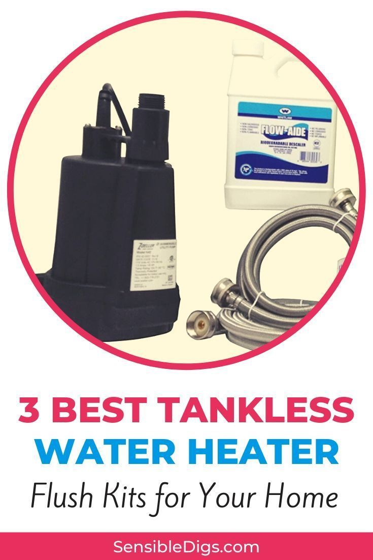 how to purge a tankless water heater
